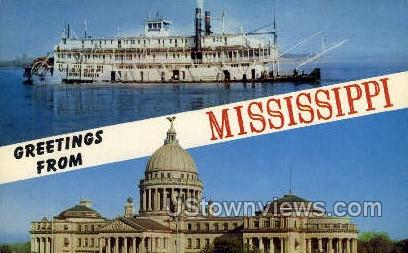 Greetings From - Jackson, Mississippi MS Postcard