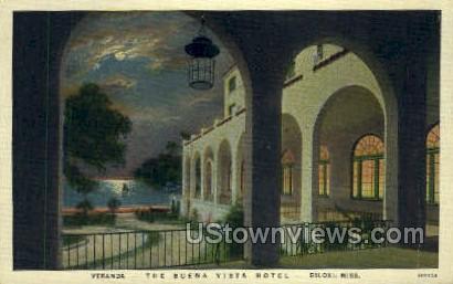 The Buena Vista Hotel  - Biloxi, Mississippi MS Postcard