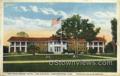 New Brick Resort Hotel - Gulf Coast, Mississippi MS Postcard