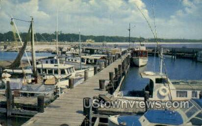 Charter Boats - Gulf Port, Mississippi MS Postcard