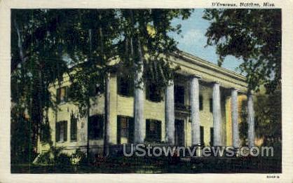 D Evereux - Natchez, Mississippi MS Postcard