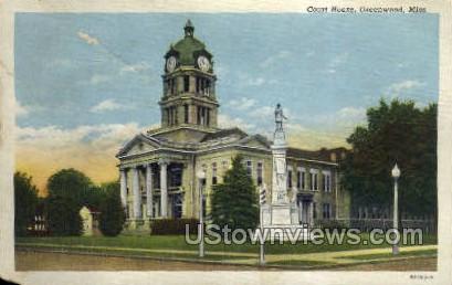 Court House - Greenwood, Mississippi MS Postcard