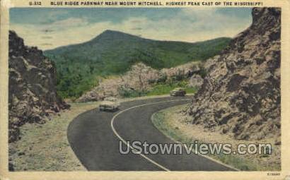 Blue Ridge Parkway  - Mount Mitchell, Mississippi MS Postcard