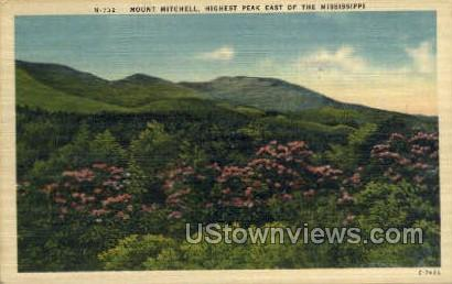 Highest Peak East of Mississippi - Mount Mitchell Postcard