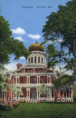 Longwood  - Natchez, Mississippi MS Postcard