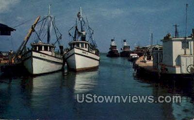 Shrimp Boats - Gulf Coast, Mississippi MS Postcard