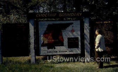 Chocataw Boundary - Natchez, Mississippi MS Postcard