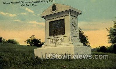 Indian Memorial  - Vicksburg, Mississippi MS Postcard