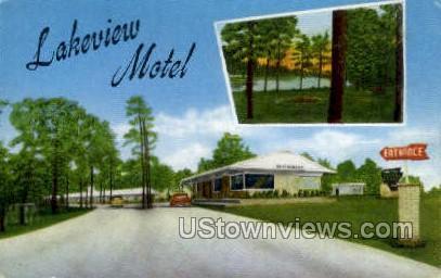 Lakeview Motel - Jackson, Mississippi MS Postcard
