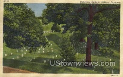 Vicksburg National Military Cemetary - Mississippi MS Postcard