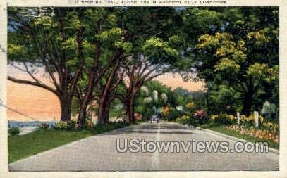 Old Spanish Trail Along the Coast - Gulf Coast, Mississippi MS Postcard