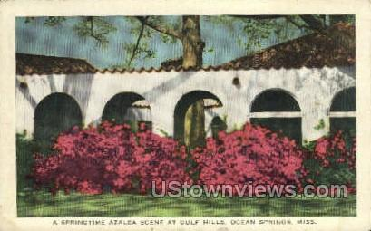 A Springtime Azalea Scene at gulf Hills  - Ocean Springs, Mississippi MS Postcard