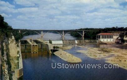 US Dams Along The Mississippi - Mississippi River Postcards Postcard