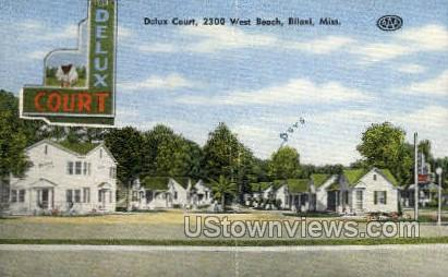 Deluxe Court West Beach  - Biloxi, Mississippi MS Postcard