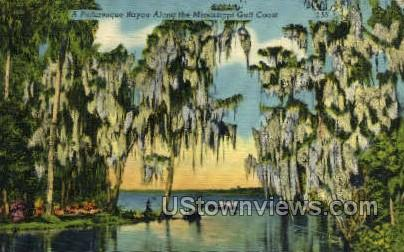 A Picturesque Bayou Along The Mississippi Gulf - Gulf Coast Postcard
