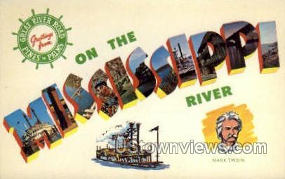 On The Mississippi - Mississippi River Postcards Postcard