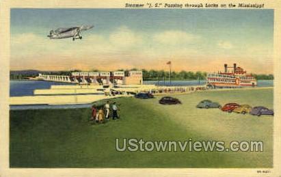Steamer JS  - Mississippi River Postcards, Mississippi MS Postcard