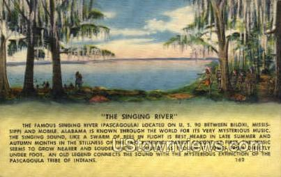 The Singing River - Biloxi, Mississippi MS Postcard