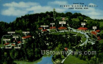 Aerial View Piney Woods School - Mississippi MS Postcard