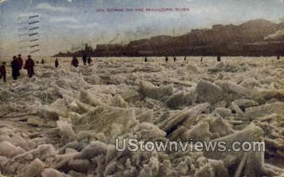 Ice Gorge On The Mississippi - Mississippi River Postcards Postcard