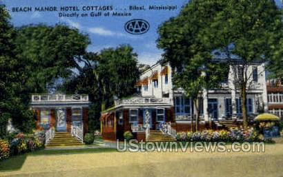 Beach Motor Hotel Cottages - Biloxi, Mississippi MS Postcard