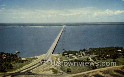 Bay Bridge  - Gulf Coast, Mississippi MS Postcard