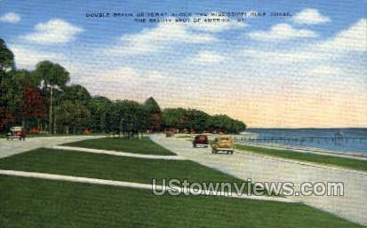 Double Beach Driveway Along The Mississippi - Gulf Coast Postcard