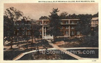 Whitefield Hall Blue Mountain College - Mississippi MS Postcard