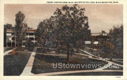 Font Campus View  - Blue Mountain, Mississippi MS Postcard