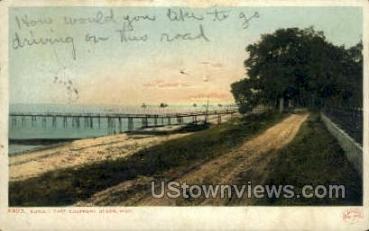 Sunset East Gulf Port - Mississippi MS Postcard
