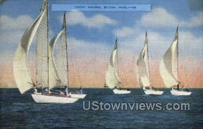 Yacht Racing - Biloxi, Mississippi MS Postcard