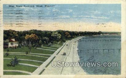 West Yacht Boulevard - Biloxi, Mississippi MS Postcard