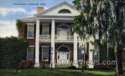 Arlington  - Natchez, Mississippi MS Postcard