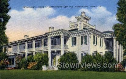 Malmaison Home Of Greenwood Leflore - Mississippi MS Postcard