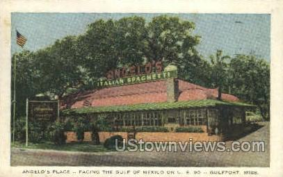 Angelos Place Facing The Gulf Of Mexico On US 90 - Gulf Port, Mississippi MS Postcard