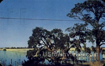 Bridge Crossing The Beautiful Back Bay - Biloxi, Mississippi MS Postcard