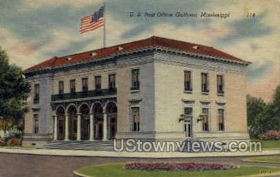 US Post Office  - Gulf Port, Mississippi MS Postcard