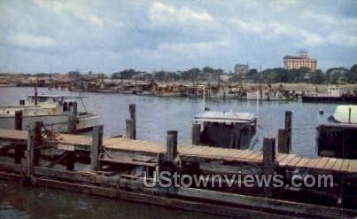 Pleasure Boats In Small Craft Harbor  - Gulf Port, Mississippi MS Postcard