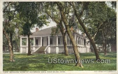Beauvoir Home Of Jefferson Davis Near  - Biloxi, Mississippi MS Postcard