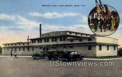 Service Club - Camp Shelby, Mississippi MS Postcard