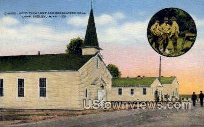 Chapel Post Exchange and Recreation Hall  - Camp Shelby, Mississippi MS Postcard