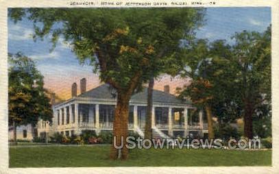 Beauvoir Home Of Jefferson Davis  - Biloxi, Mississippi MS Postcard