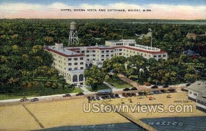 Hotel Buena Vista and Cottages - Biloxi, Mississippi MS Postcard