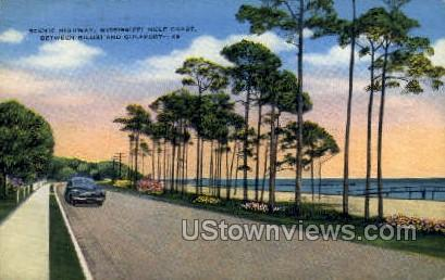 Scenic Highway  - Biloxi, Mississippi MS Postcard