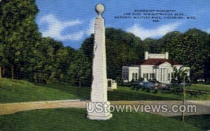 Park Admin National Military - Vicksburg, Mississippi MS Postcard