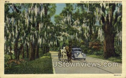 One Of Mississippis Modern Highways - Misc Postcard