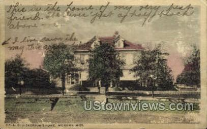 Dickersons Home  - McComb, Mississippi MS Postcard