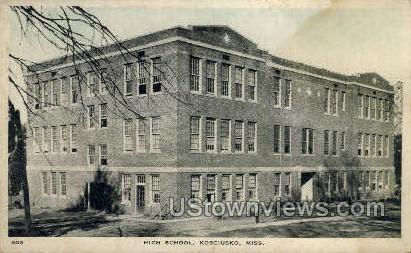 High School - Kosciusko, Mississippi MS Postcard