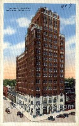 Three Foot Building - Meridian, Mississippi MS Postcard