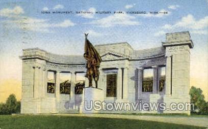 Iowa Monument National Military Park - Vicksburg, Mississippi MS Postcard